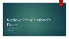 Review Frank Herbert's Dune