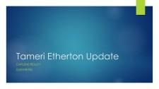 Tameri Etherton Update