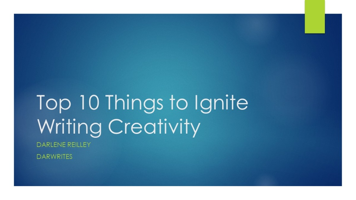 Top 10 Things to Ignite Writing Creativity