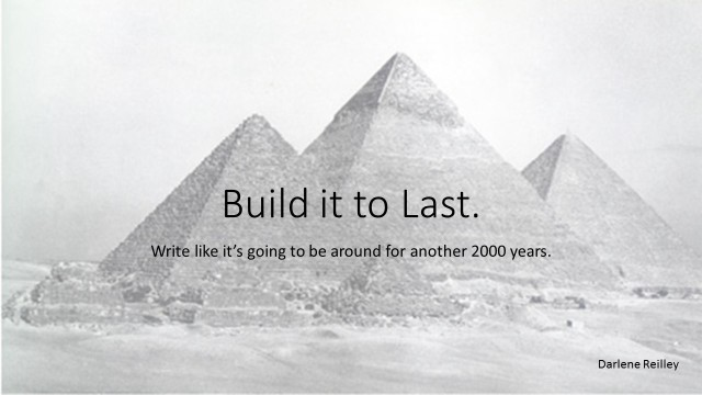 Build it to Last.