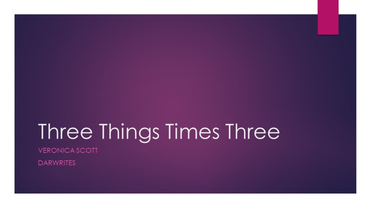 Three Things Times Three by Veronica Scott