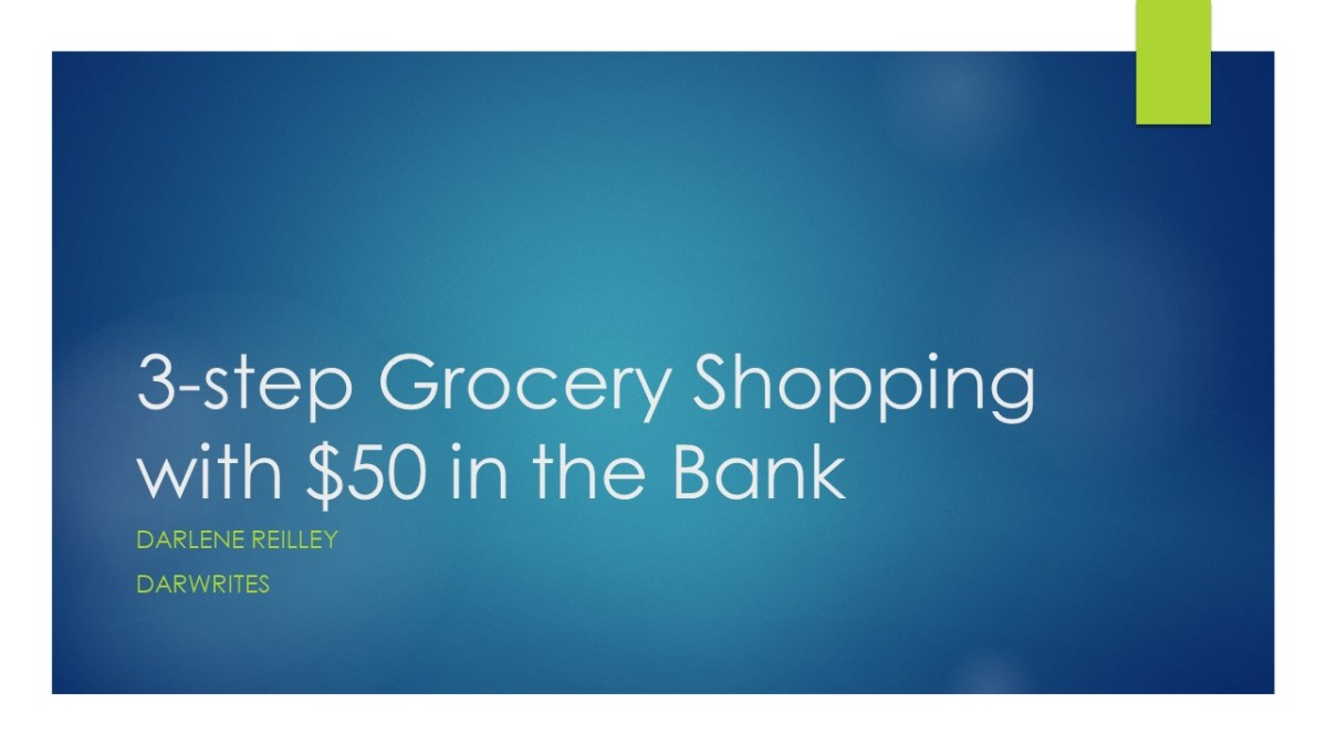 3-step grocery shopping with $50 in the bank