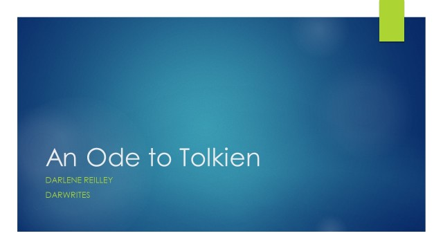An Ode to Tolkien