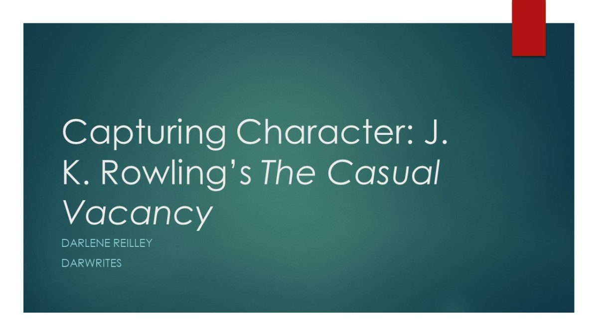 Capturing Character: J. K. Rowling's The Casual Vacancy