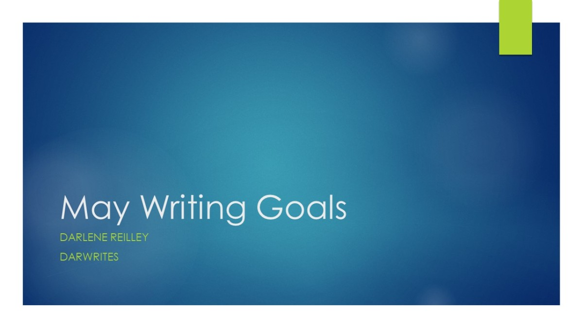 May Writing Goals