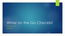 Writer on the Go Checklist