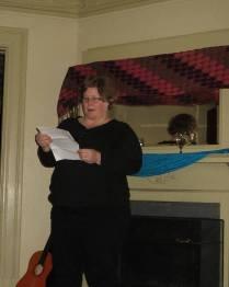 Darlene giving a reading
