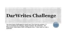 DarWrites Challenge