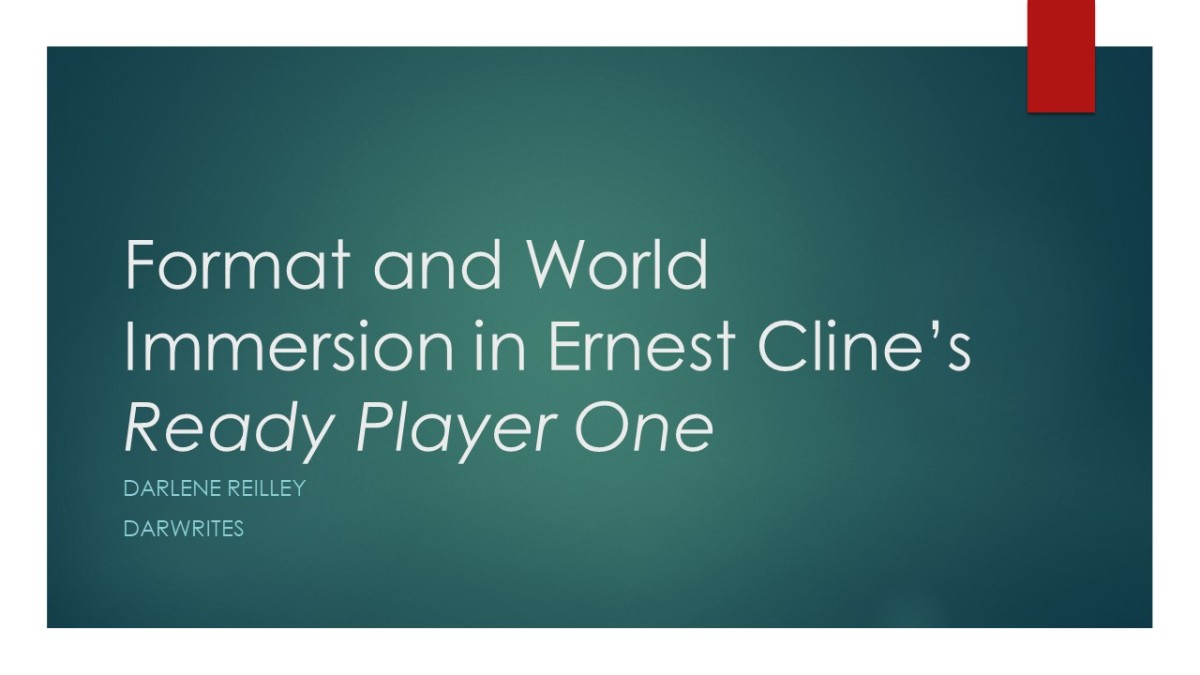 Format and World Immersion in Ernest Cline\'s Ready Player One   Dar ...