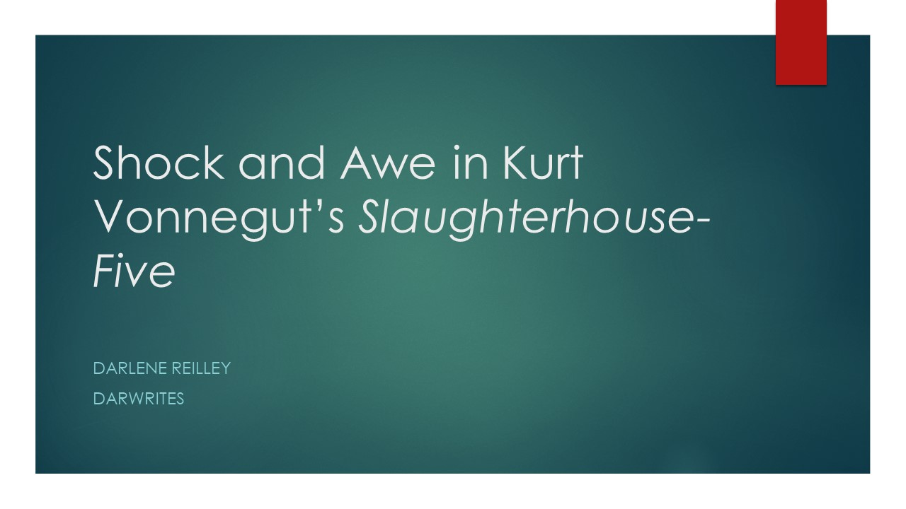 """the theme of war in slaughterhouse five by kurt vonnegut The paper tries to analyse the style of kurt vonnegut's slaughterhouse-five with   part of it"""" (halliday 1998: 37), this element is the theme and is in english  indicated  ence in the second world war, when he was a prisoner of war in  dresden."""