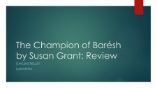 The Champion of Barésh by Susan Grant