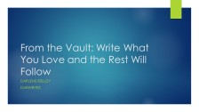 From the Vault Write What You Love