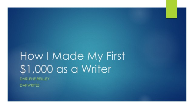 How I Made My First $1,000 as a Writer