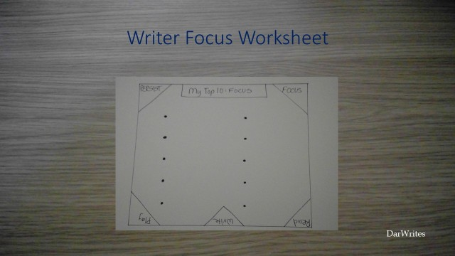 Writer Focus Worksheet