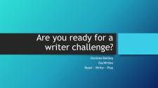 Writer Challenge 2017
