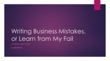 Writing Business Mistakes or Learn from My