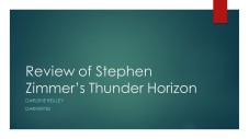 Review of Stephen Zimmer's Thunder Horizon