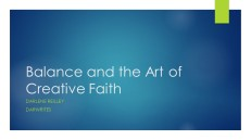 Balance and the Art of Creative Faith